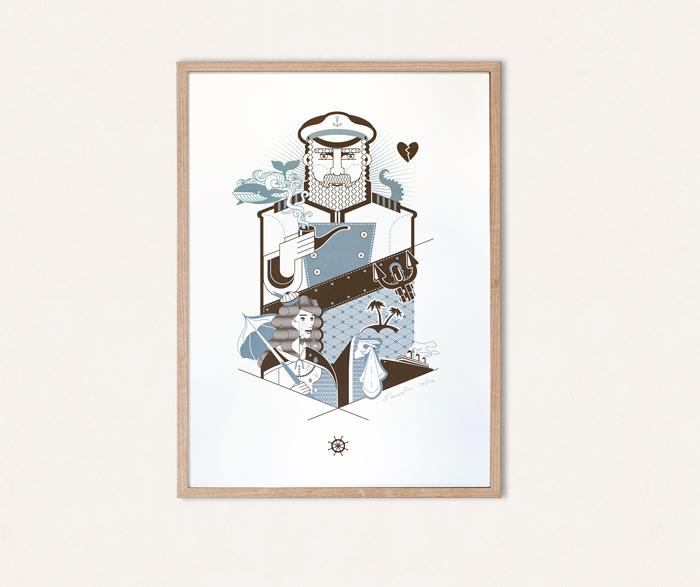 "Poster ""Hafengestalten"""