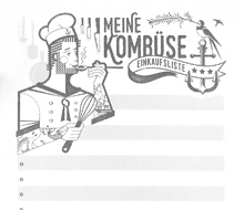"""Einkaufsblock """"Kombüse"""""""