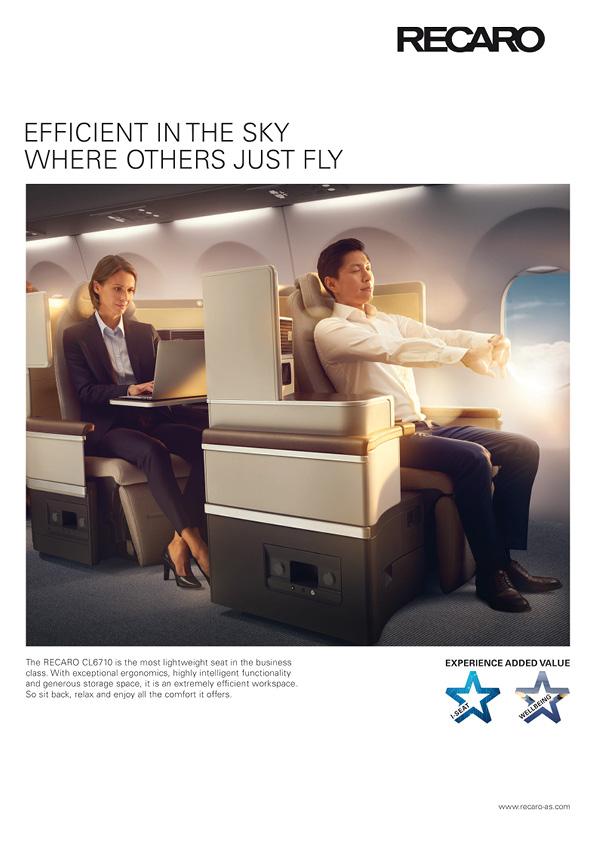RECARO Aircraft Anzeigenkampagne