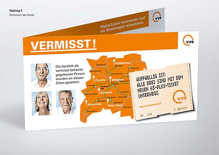 VVS Kampagne zum 65+Ticket